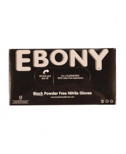 Ebony Nitrile Gloves (S/M/L)